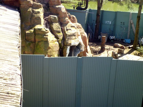 Reapair Work on Big Thunder Mountain in Frontierland, Disneyland Paris