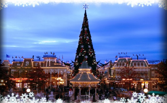 The Decorations of Christmas 2013 in Disneyland Paris