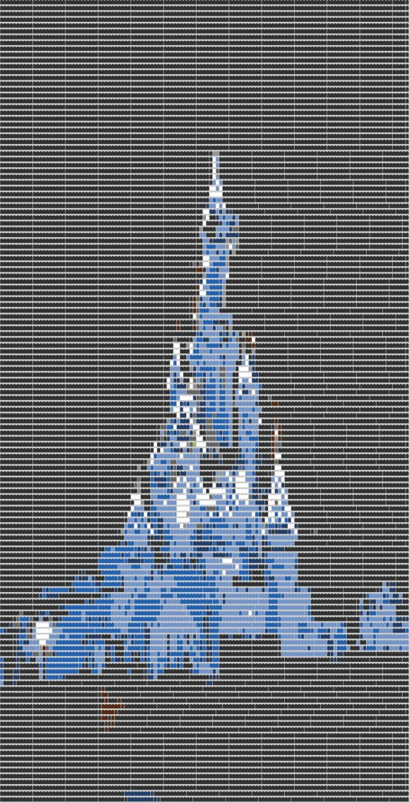 Disneyland Paris Sleeping Beauty Castle LEGO Schematic from Brickify
