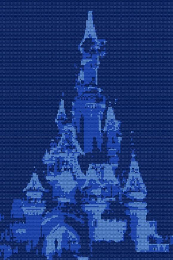 Sleeping Beauty Castle in Disneyland Paris LEGO Style, using Mosaic Maker