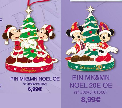 Disneyland Paris Christmas Pins