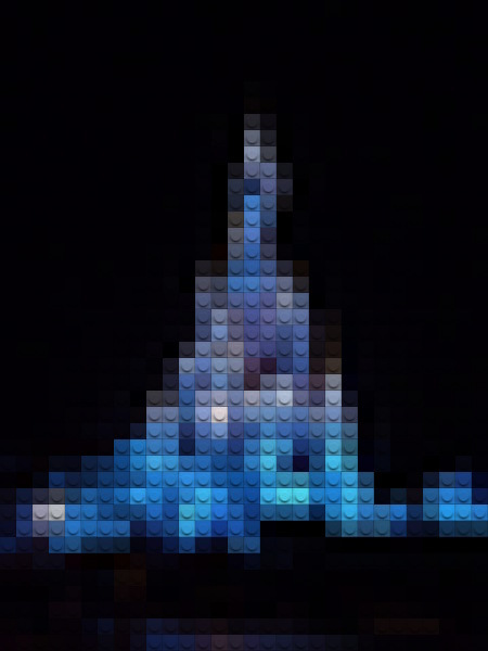 Sleeping Beauty Castle in Disneyland Paris LEGO Style, using LunaPic