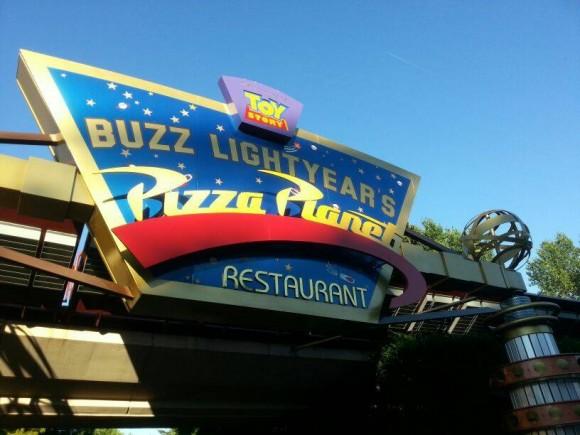 Buzz Lightyear's Pizza Planet Restaurant in Disneyland Paris