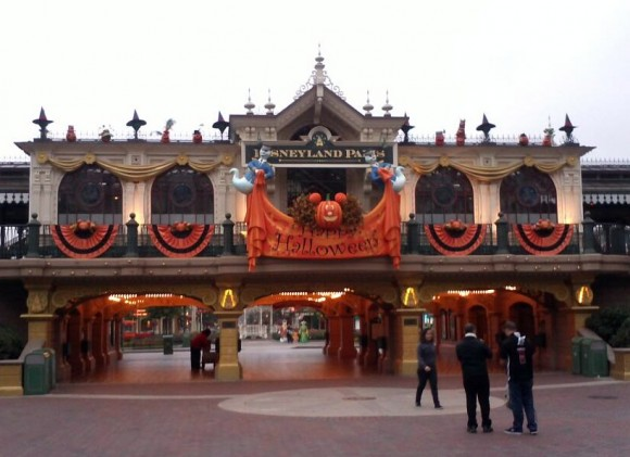 Main Street Station in Disneyland Paris for Halloween 2013
