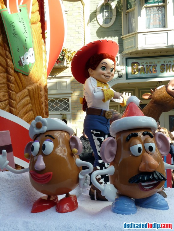 Toy Story Float in the Christmas Cavalcade in Disneyland Paris