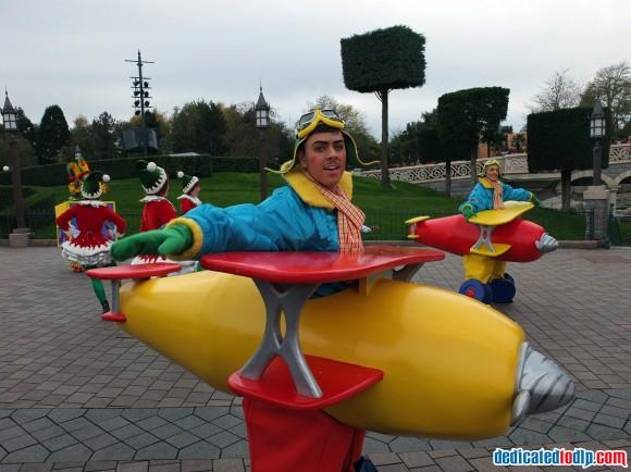 Toy Plane in the Christmas Cavalcade in Disneyland Paris