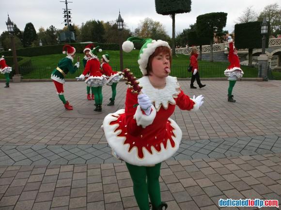 Cheeky Elf in the Christmas Cavalcade in Disneyland Paris