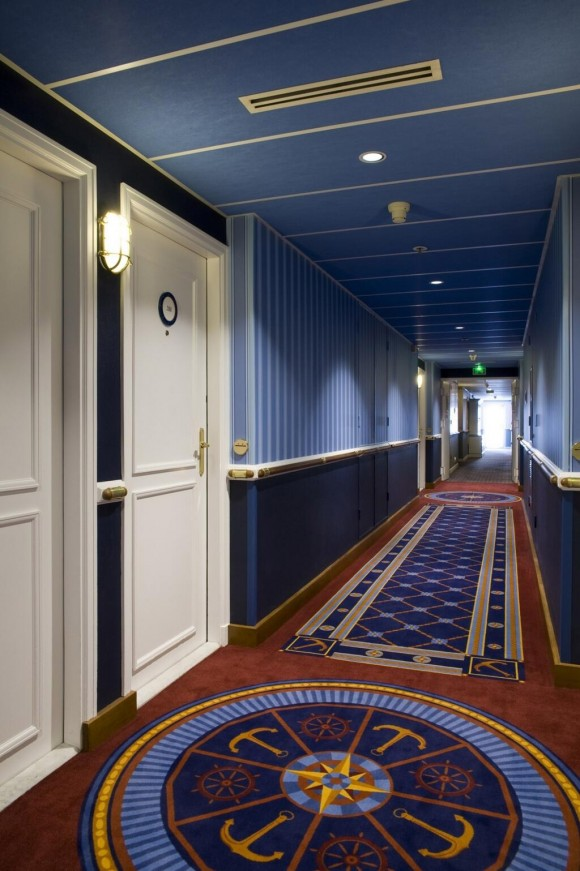 Newport Bay Club Renovations. Corridor
