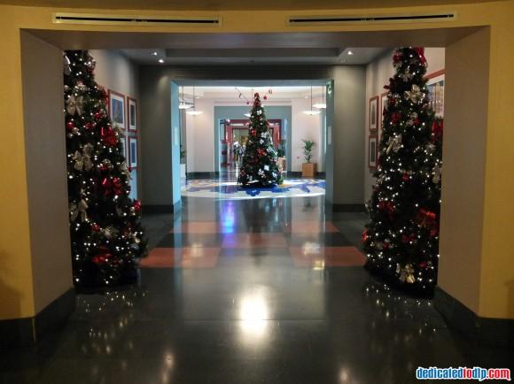 Christmas Trees in Hotel New York in Disneyland Paris