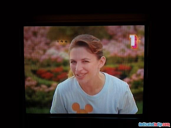 Sophie On TV in Hotel New York in Disneyland Paris