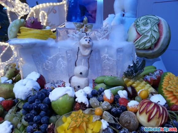 Frozen Breakfast Room Display in Hotel New York in Disneyland Paris