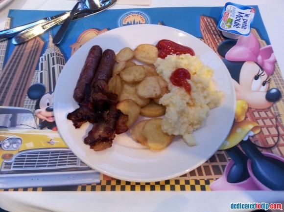 Cooked Breakfast in Hotel New York in Disneyland Paris