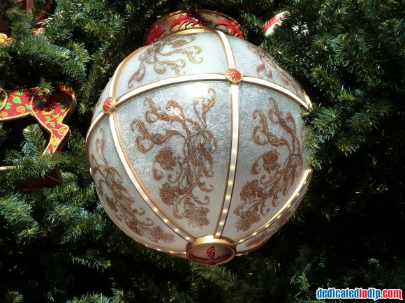 Globe Ornament On The New Christmas Tree in Disneyland Paris For 2013