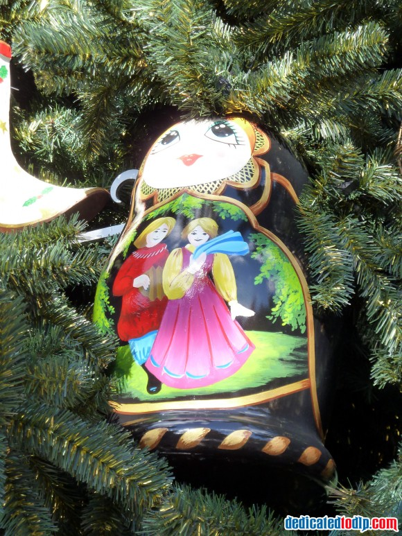 Doll Ornament On The New Christmas Tree in Disneyland Paris For 2013