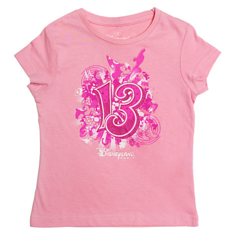 Disneyland Paris 2013 Pink Logo T-Shirt For Kids