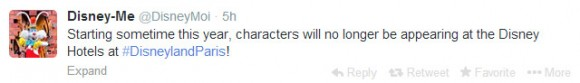 No More Characters in Disneyland Paris Hotels