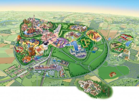 Disneyland Paris Resort Map With Ratatouille The Adventure