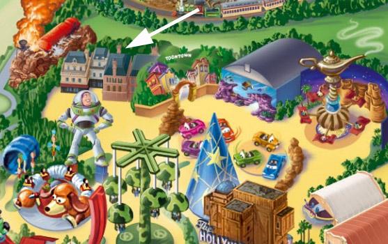 Ratatouille Area on the Disneyland Paris Resort Map