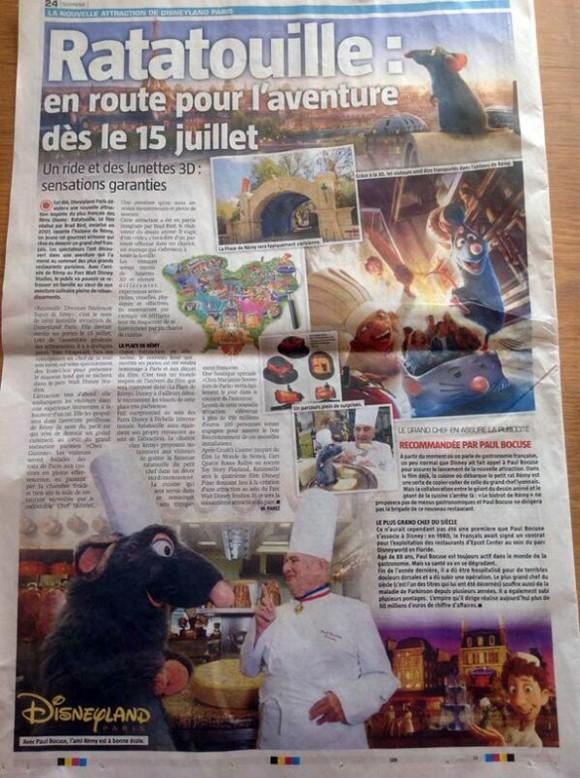 Disneyland Paris Rumour: Ratatouille The Ride To Open On July 15th 2014