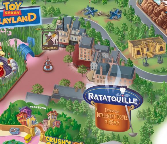 Ratatouille Area on the Walt Disney Studios Map, Disneyland Paris