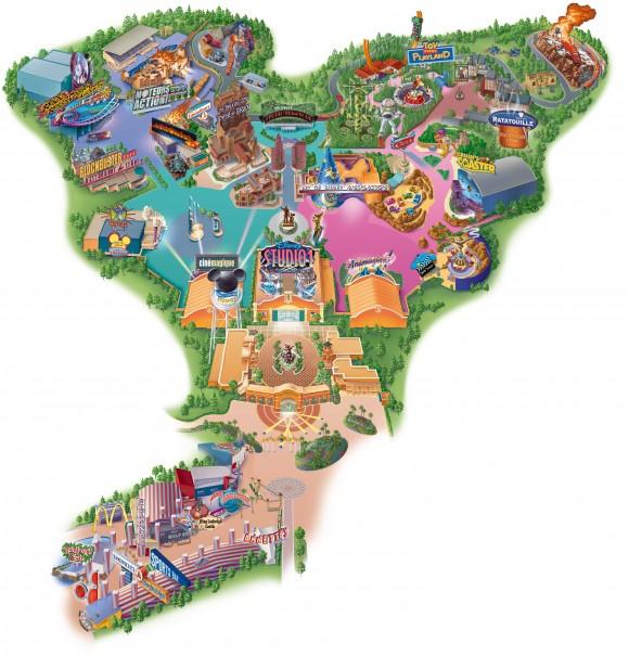 Walt Disney Studios Map With Ratatouille The Adventure