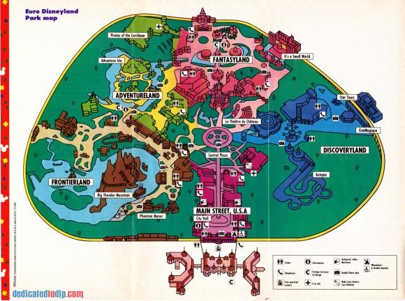 A Very Early Euro Disneyland Resort Guide, Resort Map