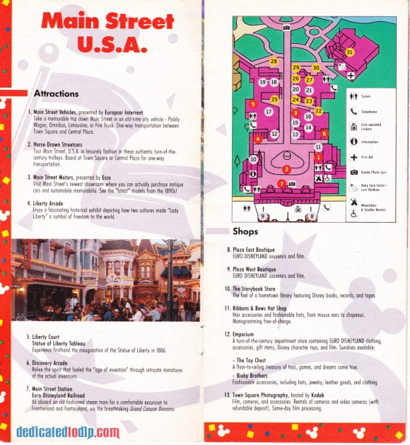 A Very Early Euro Disneyland Resort Guide, Main Street USA