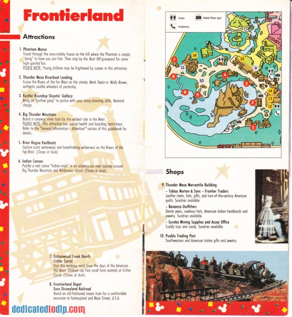 A Very Early Euro Disneyland Resort Guide, Frontierland