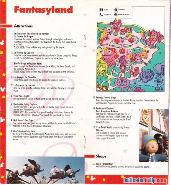 A Very Early Euro Disneyland Resort Guide, Fantasyland