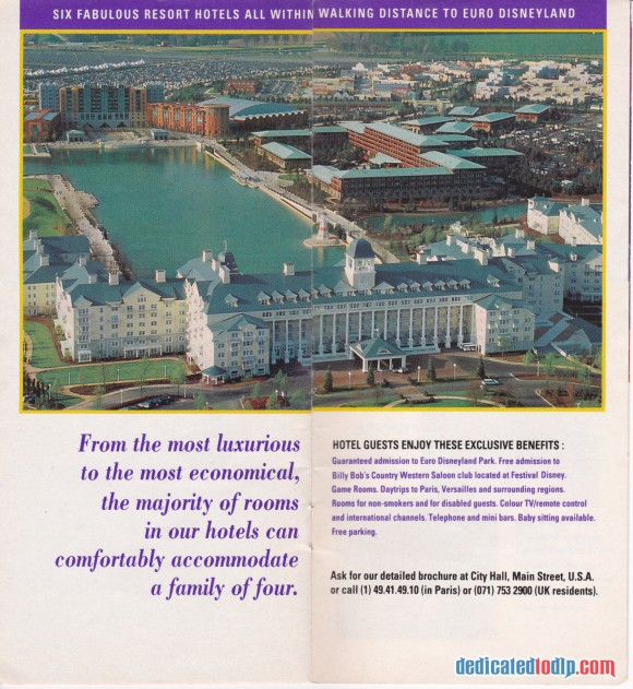A Very Early Euro Disneyland Resort Guide, Hotels
