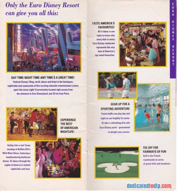 A Very Early Euro Disneyland Resort Guide, Resort Features