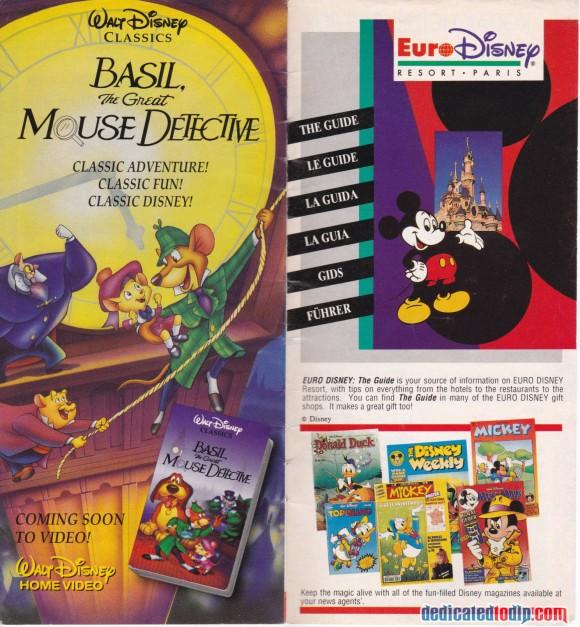 A Very Early Euro Disneyland Resort Guide, Various Disney Adverts
