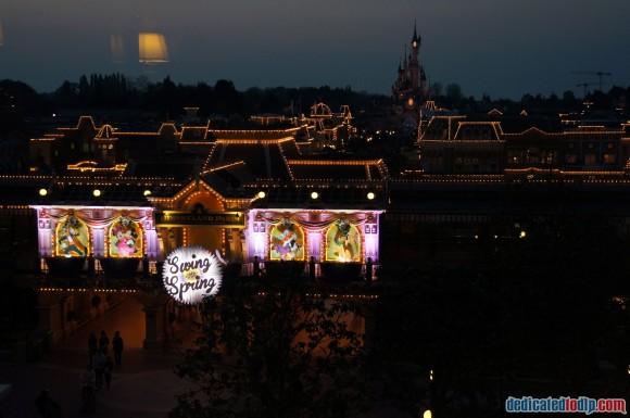 Disneyland Paris Photo Friday. Swing into Spring:  View From Disneyland Hotel at Night