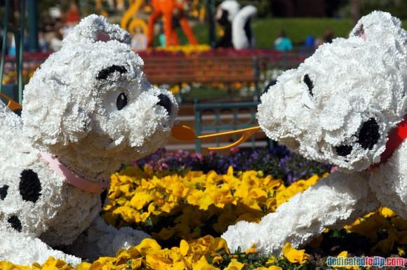 Disneyland Paris Photo Friday. Swing into Spring: 101 Dalmatians Topiary