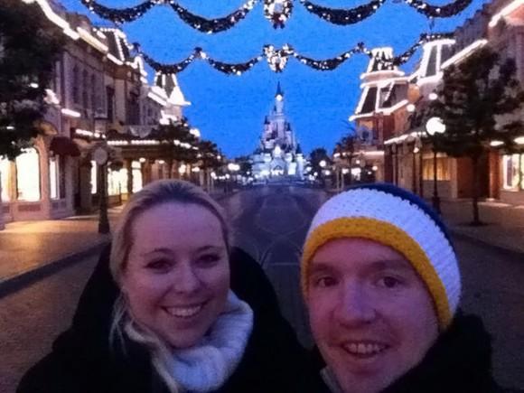 Katie and Husband in Disneyland Paris