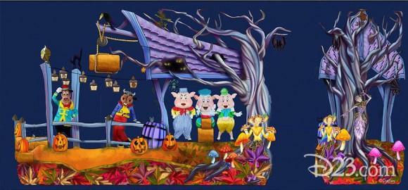 Disneyland Paris News: Concept Art For New Halloween Float