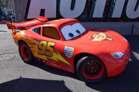 Lightning McQueen Out For Photos in Disneyland Paris