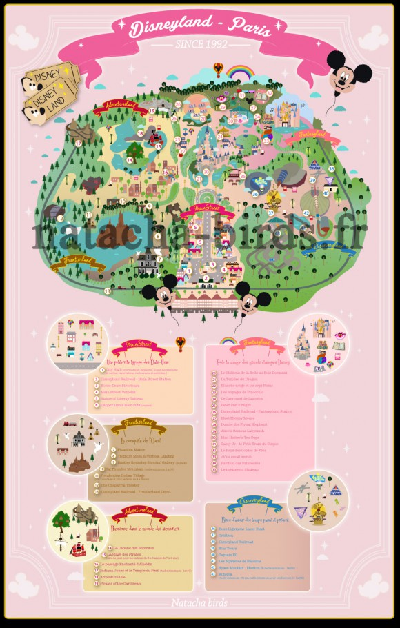 The Most Beautiful Disneyland Paris Map Ever by Natacha Birds