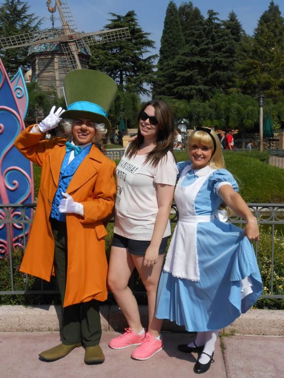 Liz Howard in Disneyland Paris
