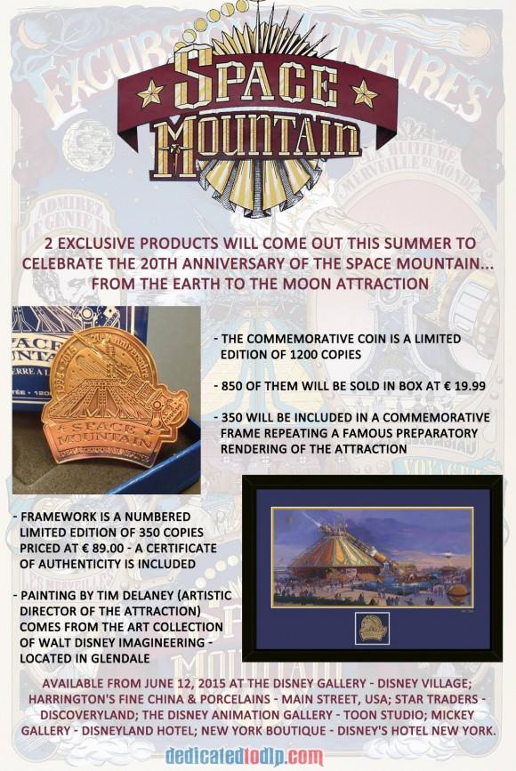 Space Mountain 20th Anniversary Merchandise