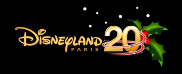 Disneyland Paris 20th Anniversary Christmas Logo