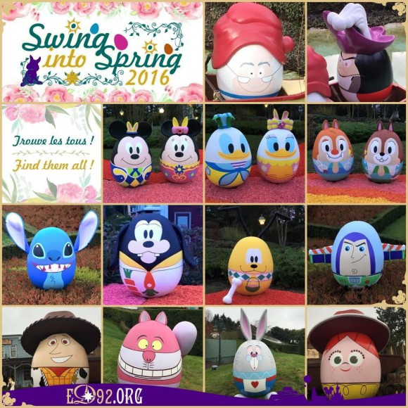 Disneyland Paris Spring 2016 decorations - character eggs collection