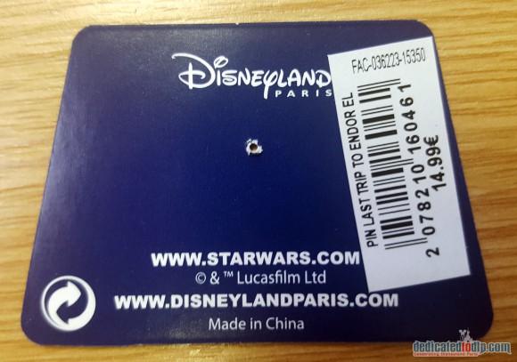 Disneyland Paris Magical Memorabilia: Last trip To Endor Pin