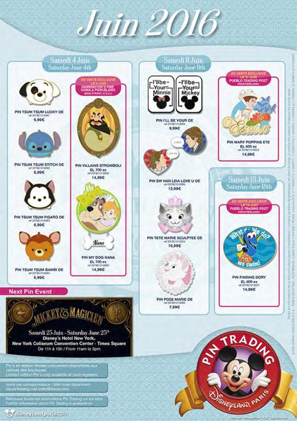 Disneyland Paris Pins For June 2016: It's All Very Cute