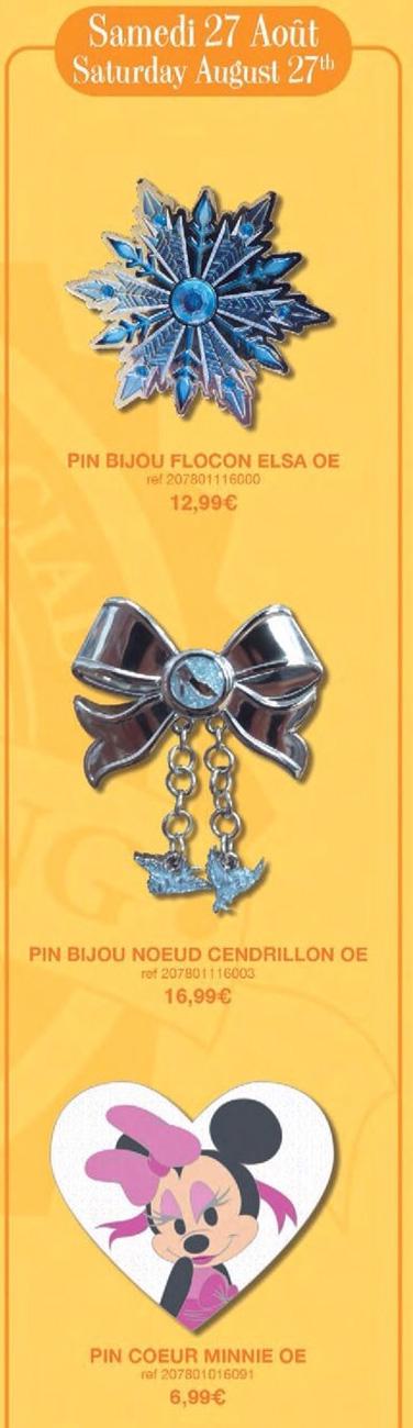 Disneyland Paris Pin Releases – 27th August 2016