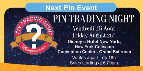 Disneyland Paris Pin Releases – Pin Trading Night