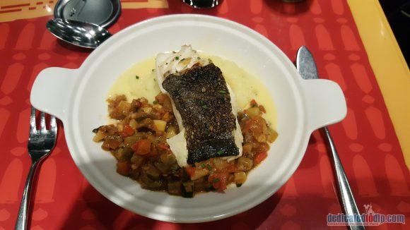 Disneyland Paris Restaurant Review: Bistrot Chez Rémy - Roasted Cod