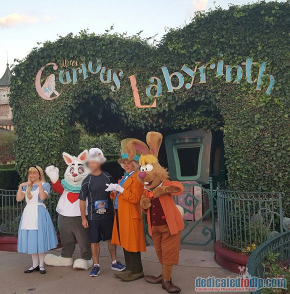 Disneyland Paris runDisney Diary Day 4 - The Half Marathon with Alice, Mad Hatter, White Rabbit and March Hare