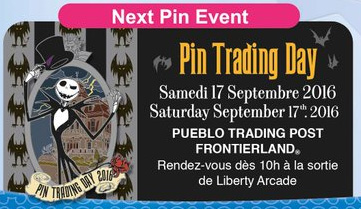 Disneyland Paris Pin Day - September 17th 2016