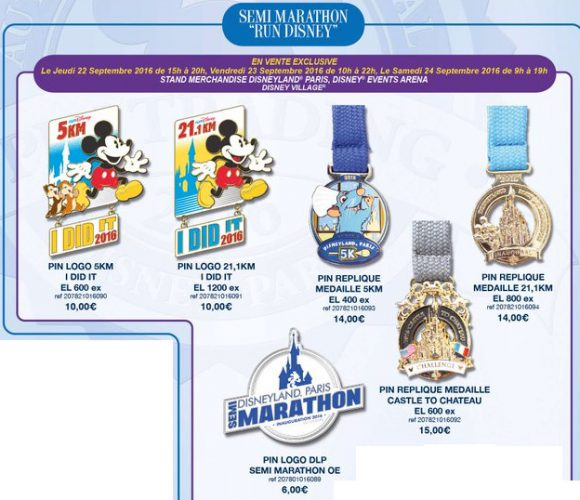 Disneyland Paris Pin Releases - runDisney September 23rd - 25th 2016